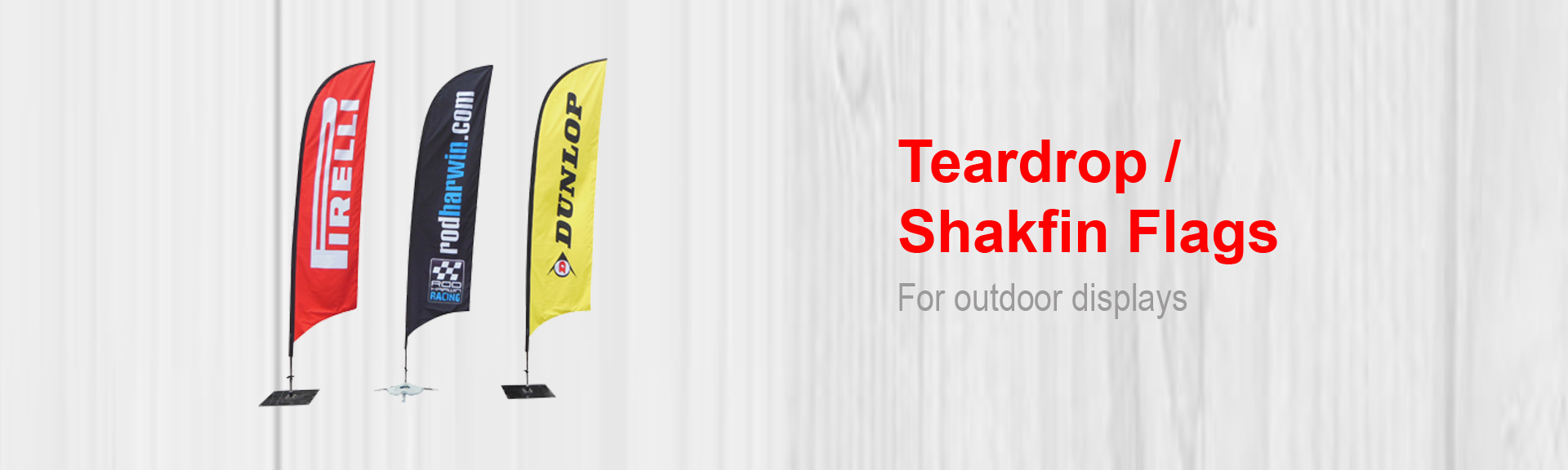 Teardrop flags printing polokwane print your sharkfin flags at brochures printing business cards letterheads reheart Gallery
